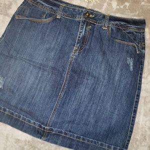 Christiana Zimm denim skirt. Size 12